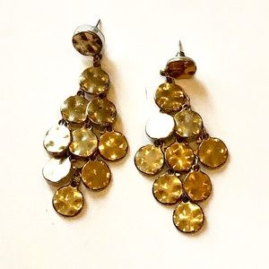 NY&Co Gold Geometric Chandelier Earrings